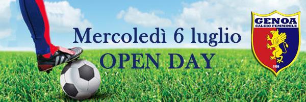 Open day 6 luglio